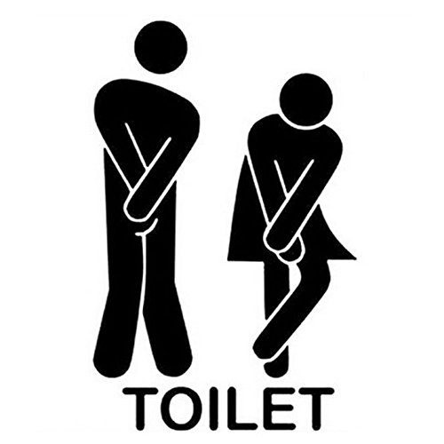 Ussore Wall Stickers Man Woman Washroom Toilet WC Wall Home Decor (A)
