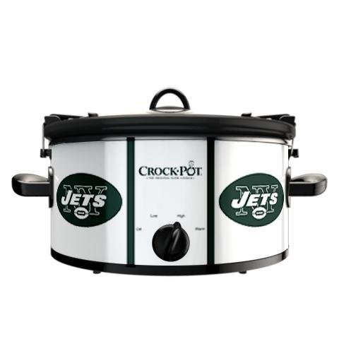 Digital Slow Cookers: Official NFL New York Jets Crock-pot Cook & Carry 6 Quart Slow Cooker