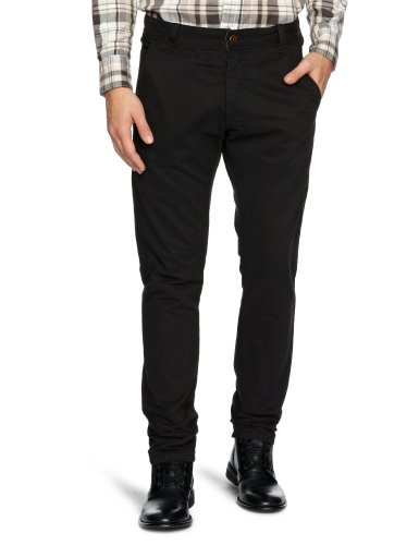 Cottonfield Harland P Slim Men's Trousers Black W31INxL32IN
