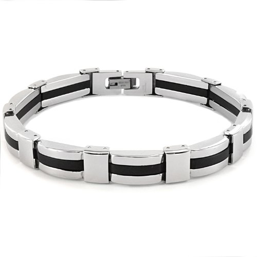 Stainless Steel Men's Link Bracelet (8mm Wide) - 8.25 Inches