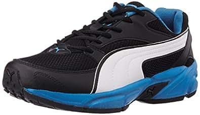 Puma Men's ForeverFashionDP Black, White and French Blue Running Shoes - 10UK/India (44.5EU)