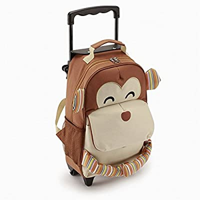 Yodo Playful 3-Way Kids Rolling Luggage or Toddler Backpack, Large Front Quick Access Pouch for Snacks or Knickknacks, Kids Age 3+, Multi from Yodo Group