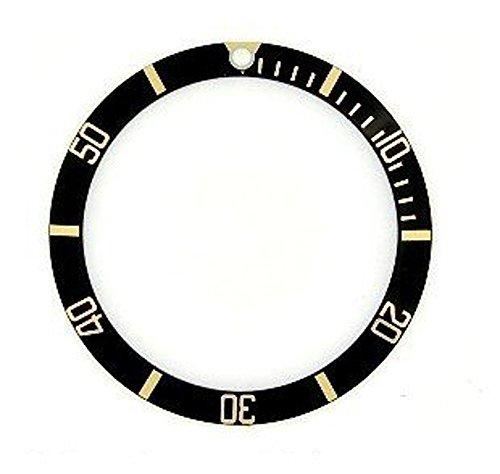 ROLEX ロレックス サブマリーナ 用 ベゼルディスク 社外品 16618,16808 ブラック/ゴールド