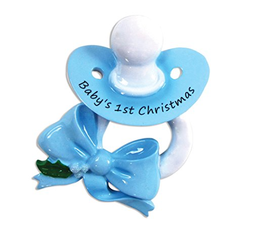 PERSONALIZED CHRISTMAS ORNAMENTS BABY'S FIRST KIT - PACIFIER/BLUE KIT