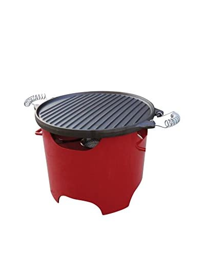 Purline barbecue brandstof BB03 rood / zwart