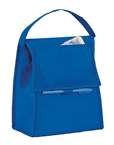 Eunichara Basic Cooler Lunch Bag Foldable with Thermal Insulated Lining Reusable (Cooler/Warmer) - Royal Blue (Lunch Bags With Hard Liner compare prices)