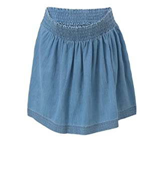 Maternity Chambray Gathered Skirt