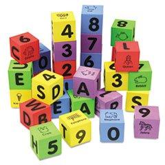 ** Wonderfoam Learning Blocks, Assorted, 30 Blocks ** front-1003321