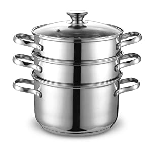 Cook N Home NC-00313 Double Boiler and Steamer Set, Stainless Steel by Cook N Home