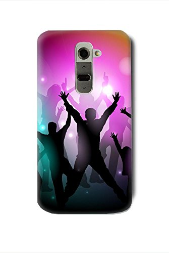 disco-party-poster-with-silhouettes-lg-g2-case-cover-d802-hardshell-full-back