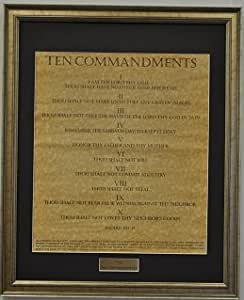 Framed The Ten Commandments
