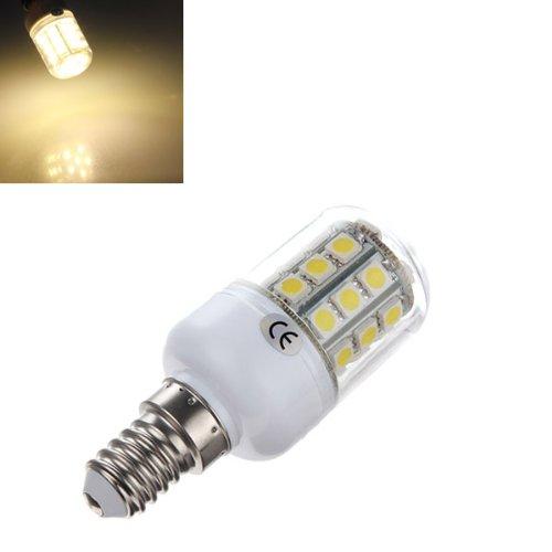 E14 5050 30 Smd Led 3.2W Warm White 3500K Corn Bulb With Cover 220V