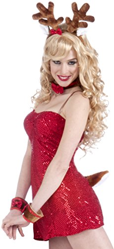 Forum Novelties Women's Flirty Santa Reindeer Costume Kit