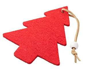 Petit sapin de noel d coration de noel feutrine rouge for Decoration de noel amazon