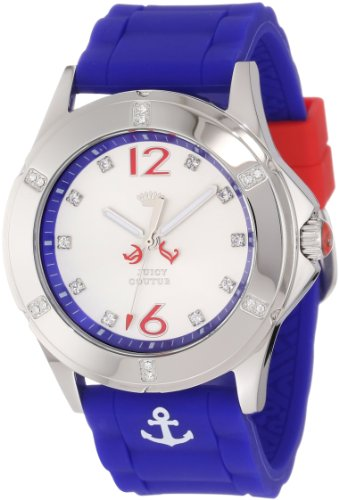 Juicy Couture Women's 1901000 Rich Girl Nautical Blue Silicone Strap Watch