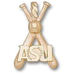 Arizona State ASU Baseball Bats - 14K Gold by Logo Art