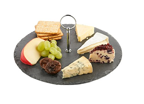 VonShef Round Slate Cheese Board Serving Set with Carrying Handle (Cheese Board compare prices)