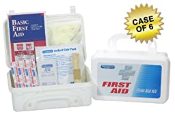 PhysiciansCare Office First Aid Kit for 10 People, Contains 50 Pieces, Case of 6
