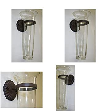Wall Sconces Vase : Glass Sconce Wall Vase - Set of 2 - - Amazon.com