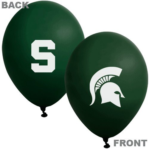 "NCAA Michigan State Spartans Green 10-Pack 11"" Latex Balloons"