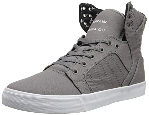 B00MOX1IKW Supra Skytop Grey/Micro-Herringbone Sneaker Medium / 11.5 C/D US Women / 10 D(M) US Men