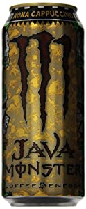 Monster Energy Java Kona Energy Drink, Cappuccino, 15 Ounce (Pack of 12)