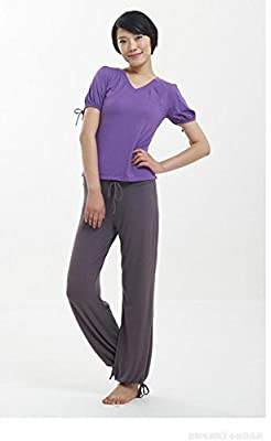 JustinCostume Womens Modal Cotton Loose Fit Dance Harem Yoga Pants With Drawstring