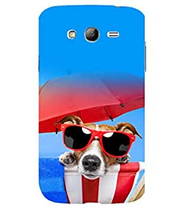 printtech Cool Dog Glasses Back Case Cover for Samsung Galaxy Grand Neo Plus / Samsung Galaxy Grand Neo Plus i9060i