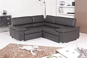 ewald schillig ecksofa courage leder schiefer. Black Bedroom Furniture Sets. Home Design Ideas