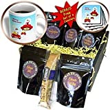 Belinha Fernandes - Christmas Greetings - Rudolph, Polar bear and Santa Claus travelling to deliver Christmas gifts - Coffee Gift Baskets - Coffee Gift Basket