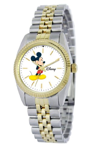 Disney Women's D110S776 Mickey Mouse Two-Tone Bracelet Watch