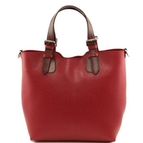 Tuscany Leather, Borsa a spalla donna rosso