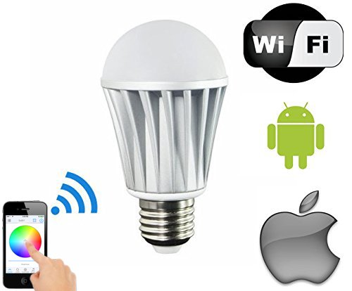 MagicLight© WiFi LED Light Bulb – Control Your Lights From Anywhere – Dimmable Multicolored Color Changing LED Lights – Works with iPhone, iPad, Android Phone and Tablet