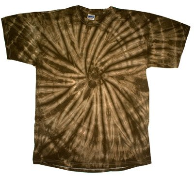 Tie Dye SPIDER BROWN Retro Vintage Groovy Adult Tee Shirt T-Shirt