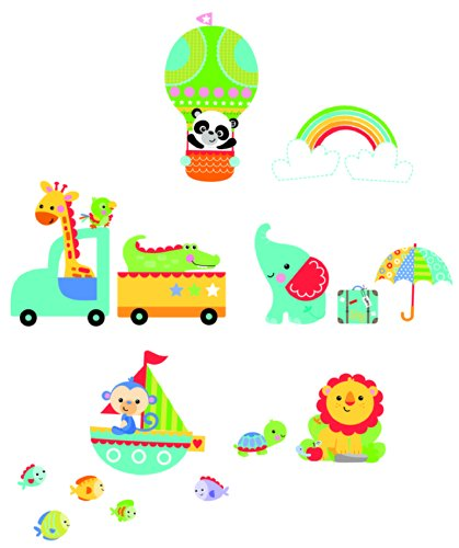funtosee fisher price rainforest nursery wall stickers
