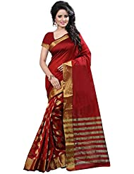 Vardhita Fashion's Red Color Cotton Silk Saree With Blouse Piece
