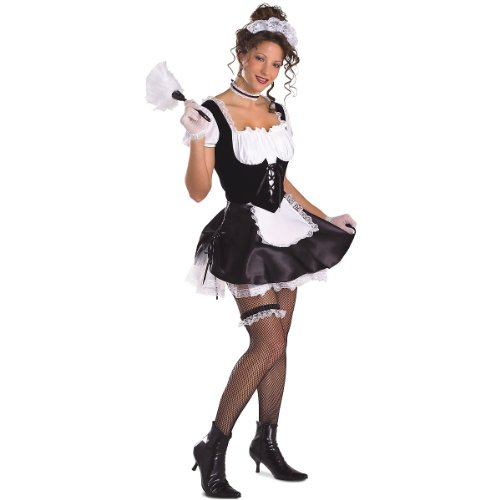 Secret Wishes Sexy Satin French Maid Adult Costume Size XSmall 26