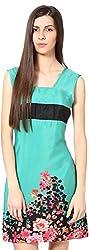 Shibori Women's Dress (Ds1725Cr_Xl, Green, X-Large)
