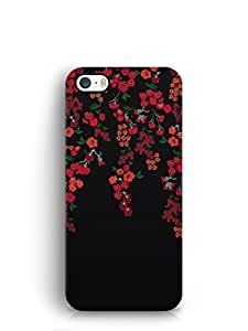 Cover Affair Flowers Printed Back Cover Case for Apple iPhone SE