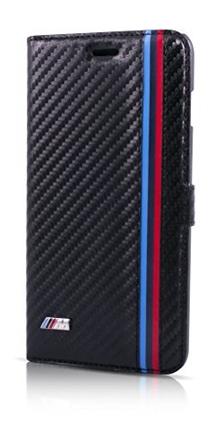 Official Licensed BMW M Collection Black Carbon Effect Booktype Case for iPhone 6