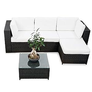 erweiterbares 15tlg balkon polyrattan lounge. Black Bedroom Furniture Sets. Home Design Ideas