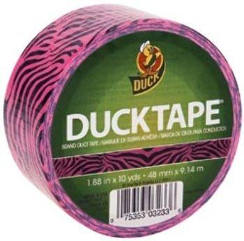 """Shurtech - Patterned Duck Tape 1.88"""" - 10 Yd Roll-Pink Zebra"""