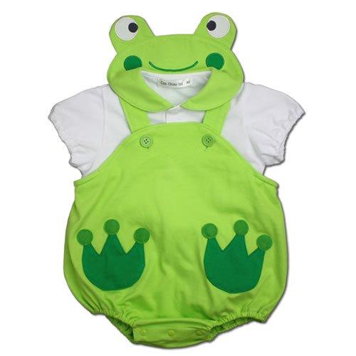 【カエル 半袖 ブラウス ロンパース セット】80cm ベビー コスチューム 着ぐるみ キグルミ