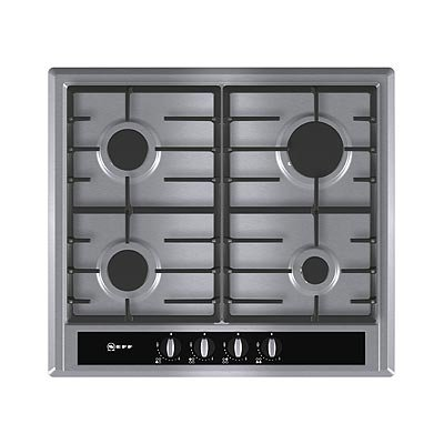 NEFF Series 2 60cm four-burner Gas Hob (Stainless steel) T23S36N0