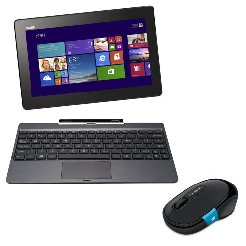 【Amazon.co.jp限定】 ASUS NB / gray  ( WIN8.1 32bit / 10.1 inch touch / Z3740 / 2G / 64G / Home&Biz 2013 / スリーブ付属 ) H100TA-DK004HS
