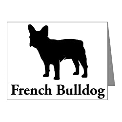 CafePress French Bulldog Silhouette Note Cards Pk of 10 - Standard Multi-color Matte from CafePress