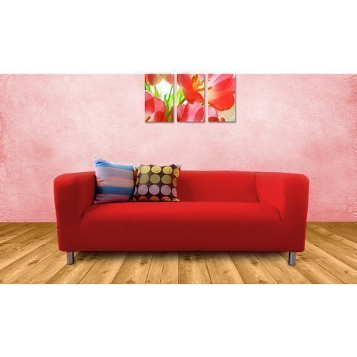 Cheap Price Ikea Klippan 2 Seater Sofa Replacement Slip Cover, Red