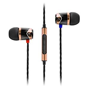 SoundMagic E10C In-Ear Headphones with Mic (Black/Gold)