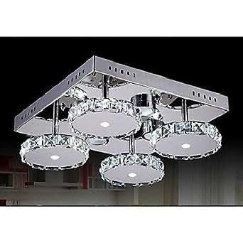 lampade moderne chiare lampadari di cristallo 4 luci per camera da letto: Amazon.it: Illuminazione
