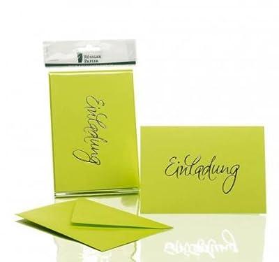 """Rössler Papier - Kartenpack""""Einladung"""" mit Heißfolienprägung - B6 (120/240 x 169 mm), unterschiedliche Farben"""